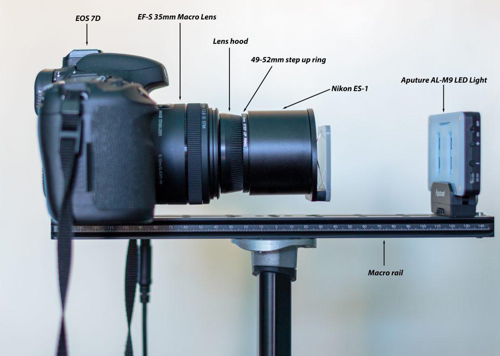 Setup for slide capture
